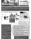 La Lettre d'octobre 2012, page 1
