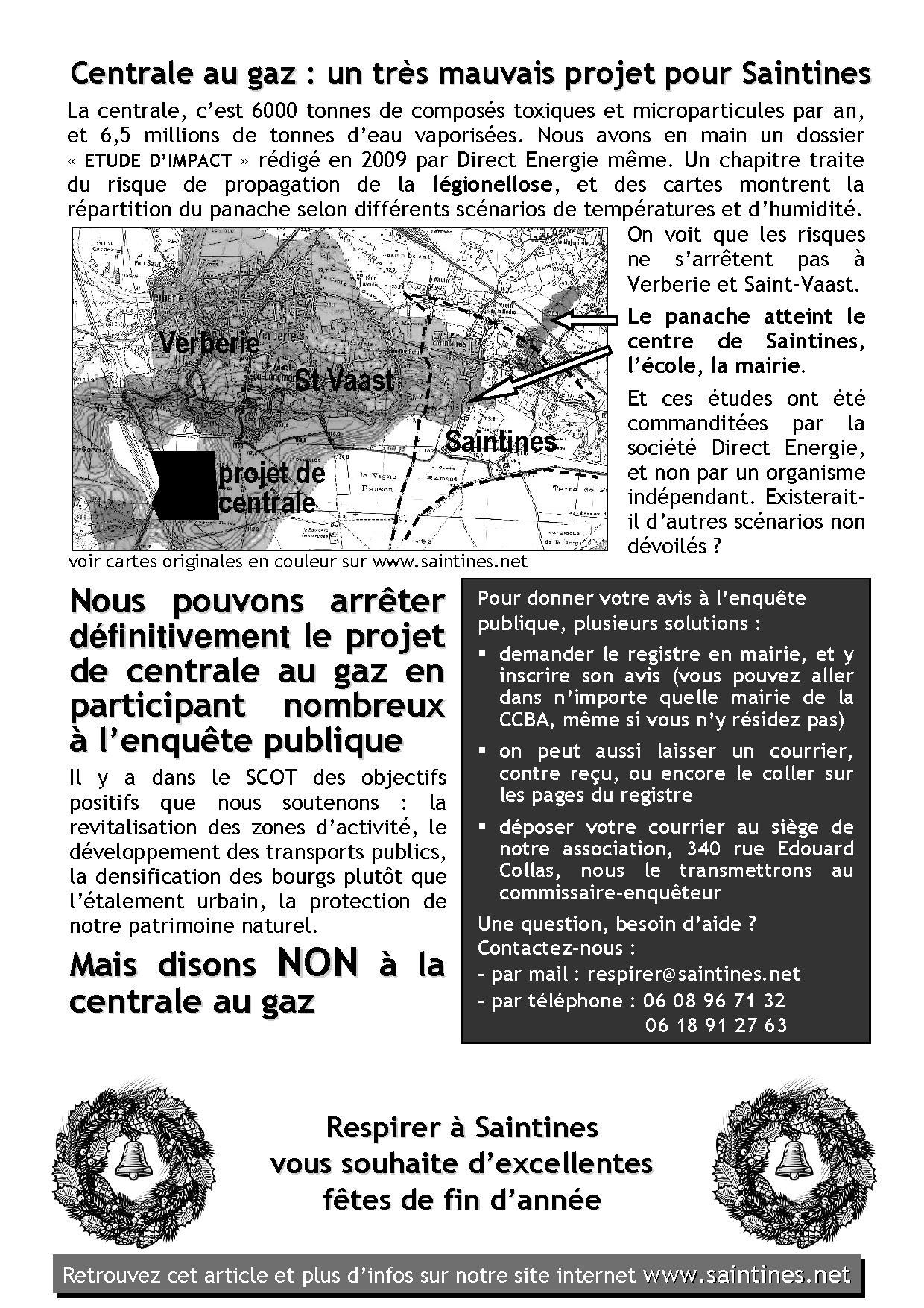 La Lettre de décembre 2012, page 2