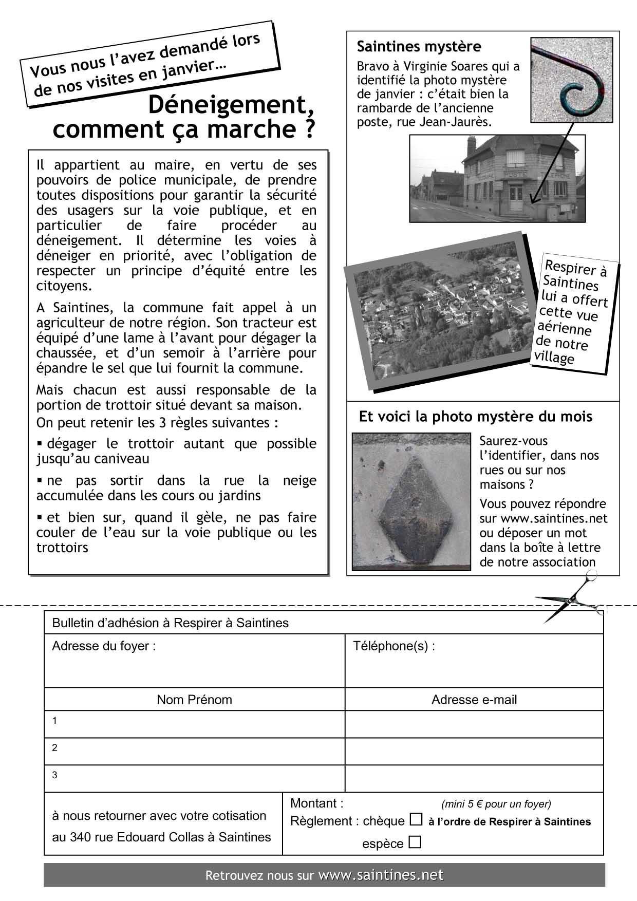 La Lettre de Mars 2013 page 2