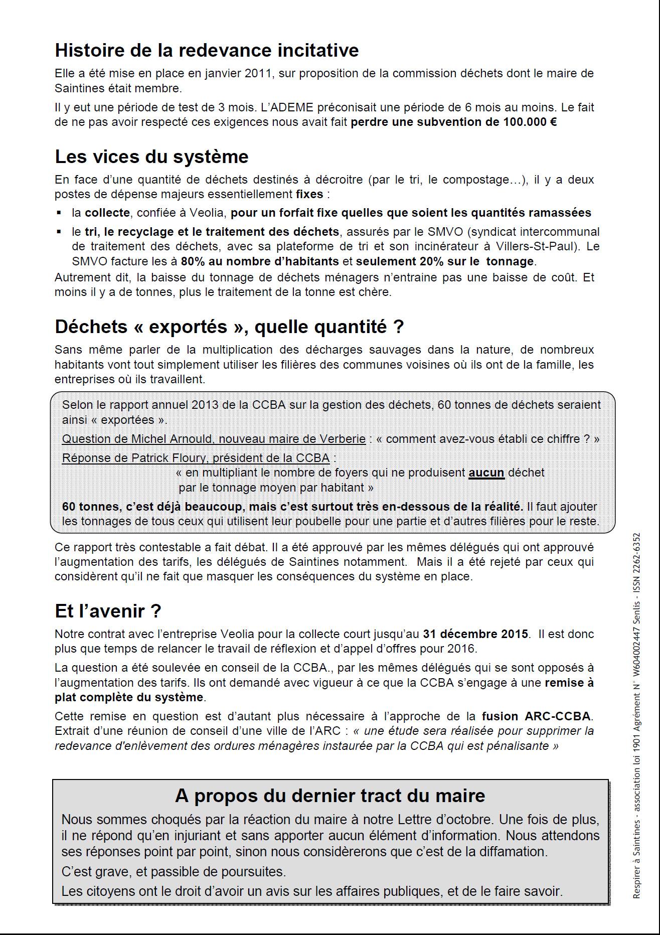 La Lettre nov 2014 page 2